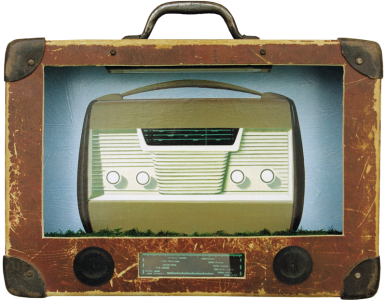 Pocket Radio, 199825x35x10 cm, mixed technique© Regős István