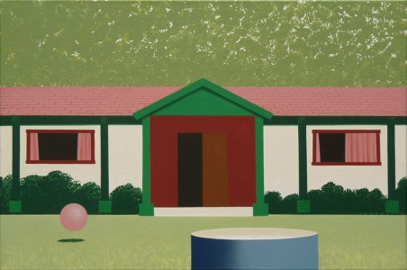 Holiday House, 201340x60 cm, acrylic on canvasPrivat collection© Regős István